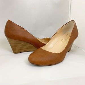 Jessica Simpson wedge round toe shoes